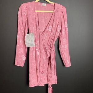 Aritzia Wilfred Brocade Wrap Dress Sz S